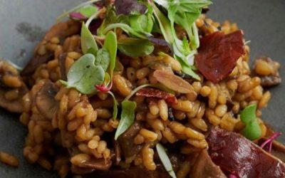 Receta de arroz meloso con setas